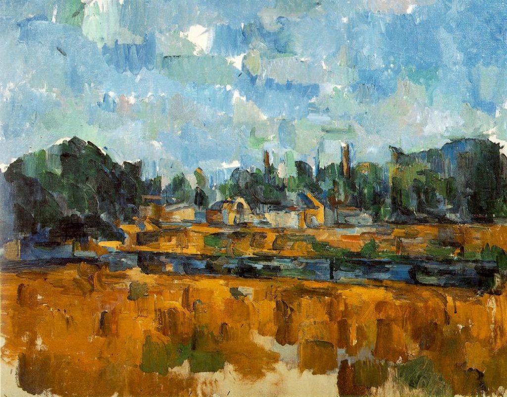 Bords d'une rivière by Cezanne
