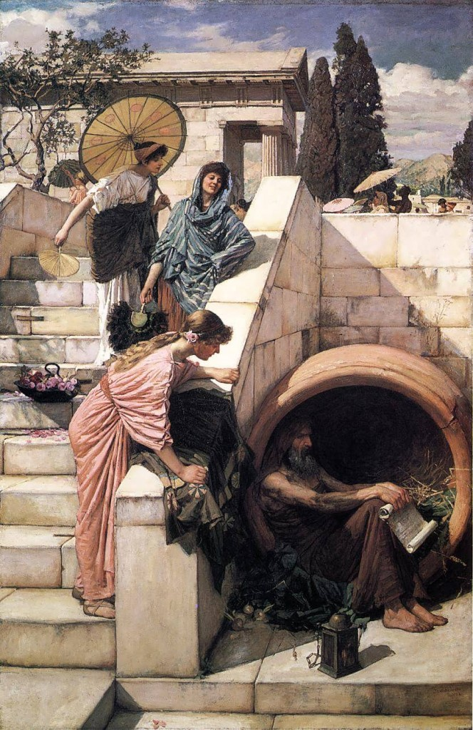 Diogenes, by John William Waterhouse