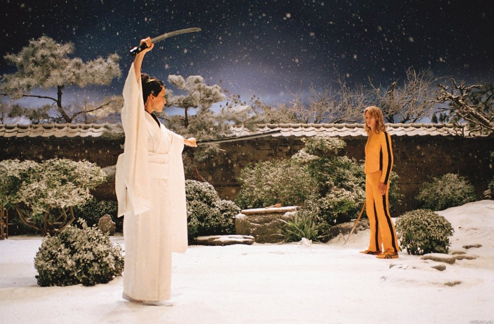 O-Ren Ishi and the Bride face off.