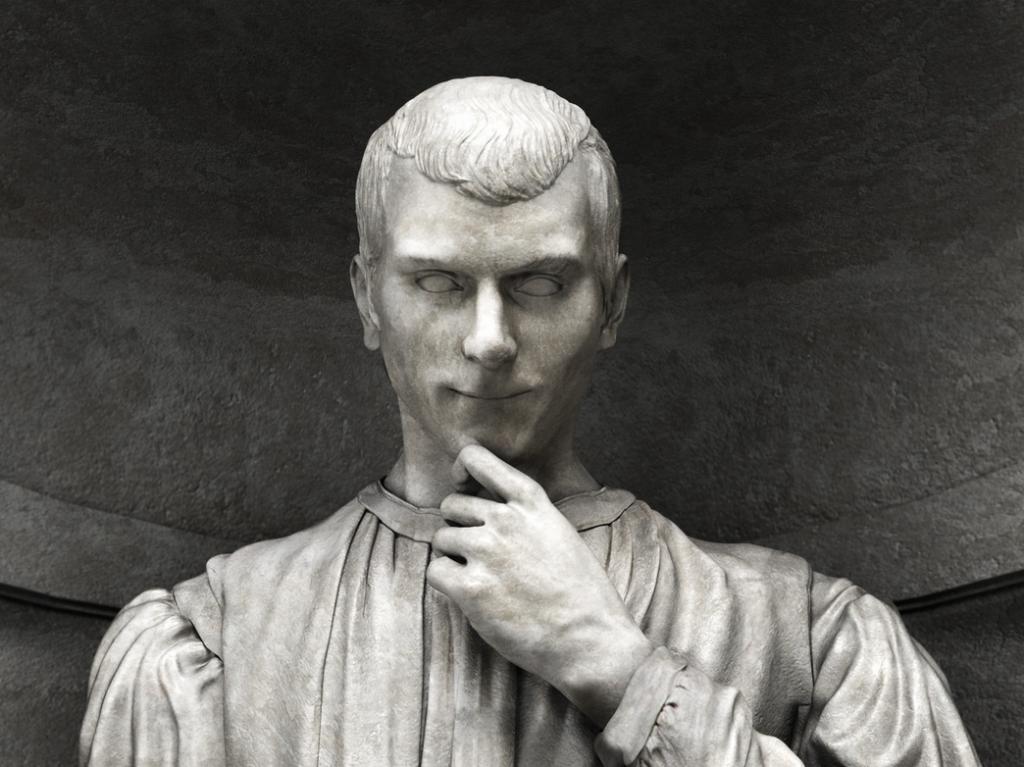 Machiavelli statue, Uffizi