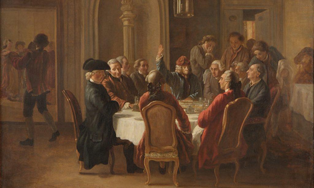 Un diner des philosophes by Jean Huber