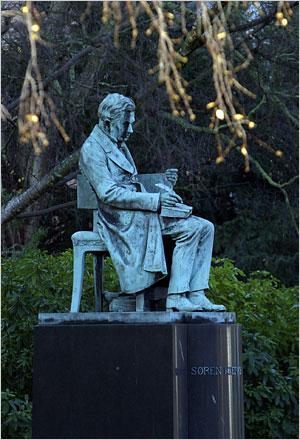 Statue of Kierkegaard, Royal Library, Copenhagen, Denmark