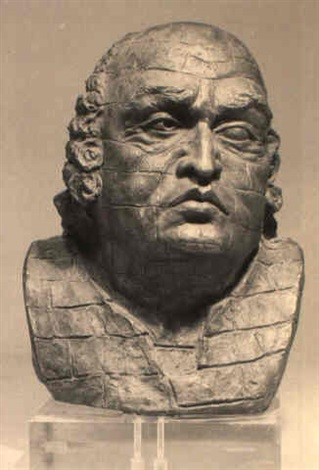 Bust of the Marquis de Sade by Man Ray
