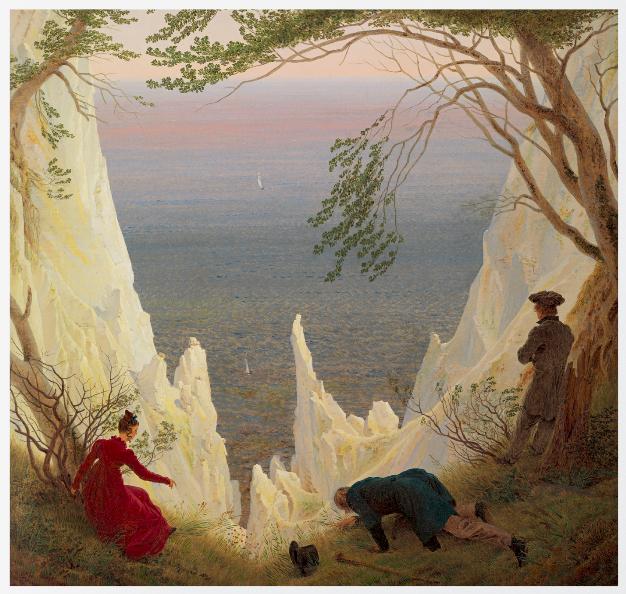 Chalk Cliffs on Rugen by Caspar David Friedrich