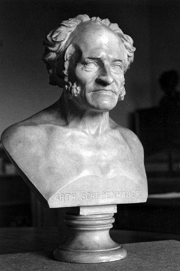 Bust of Schopenhauer by Elizabet Ney
